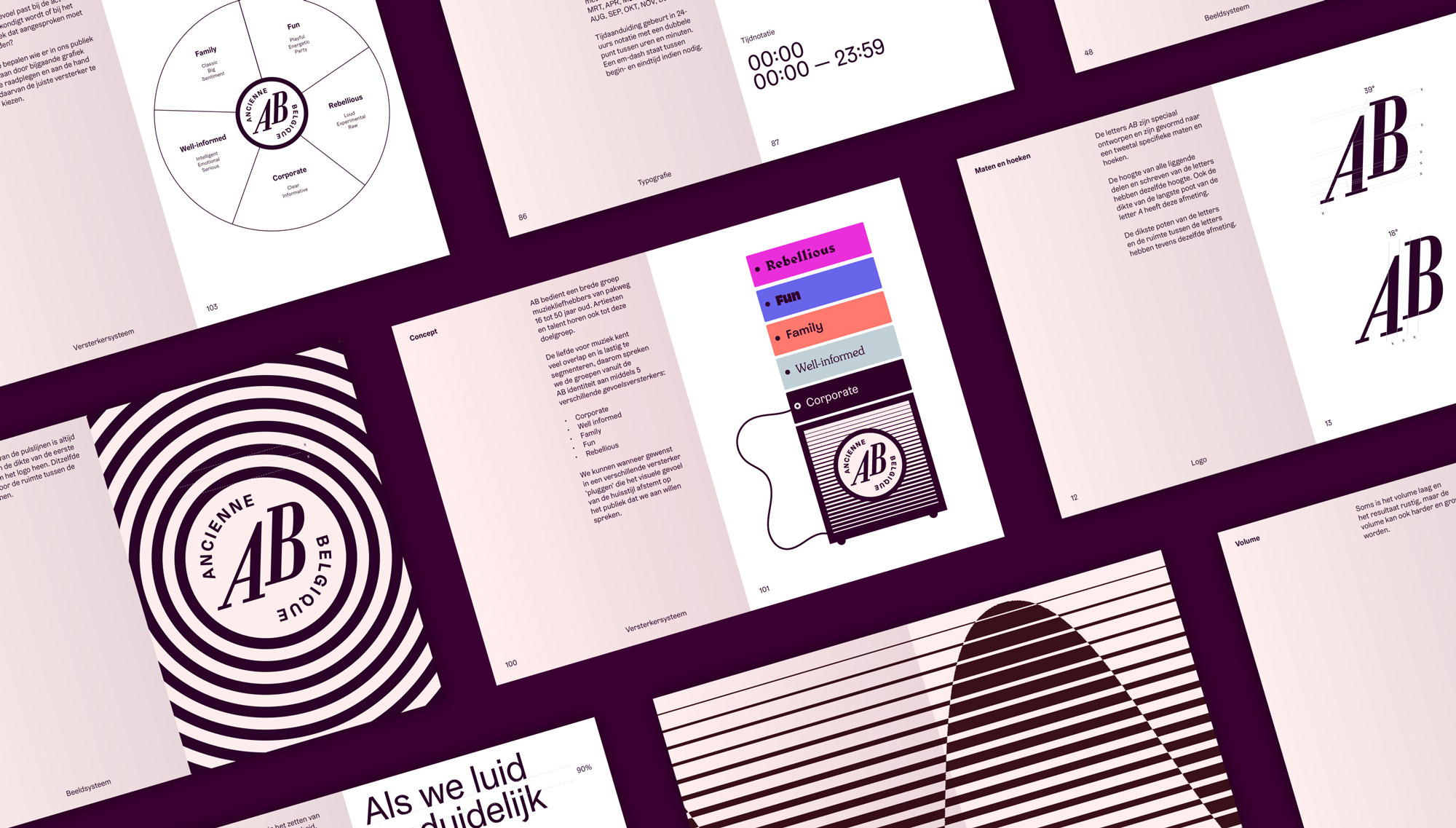 New Logo and Identity for Ancienne Belgique by Vruchtvlees