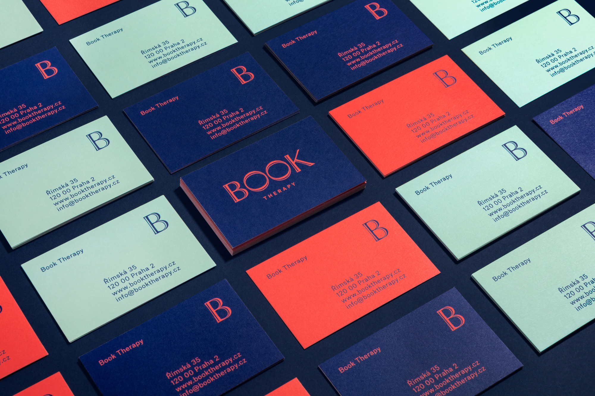 New Logo and Identity for Book Therapy by Bal Icme