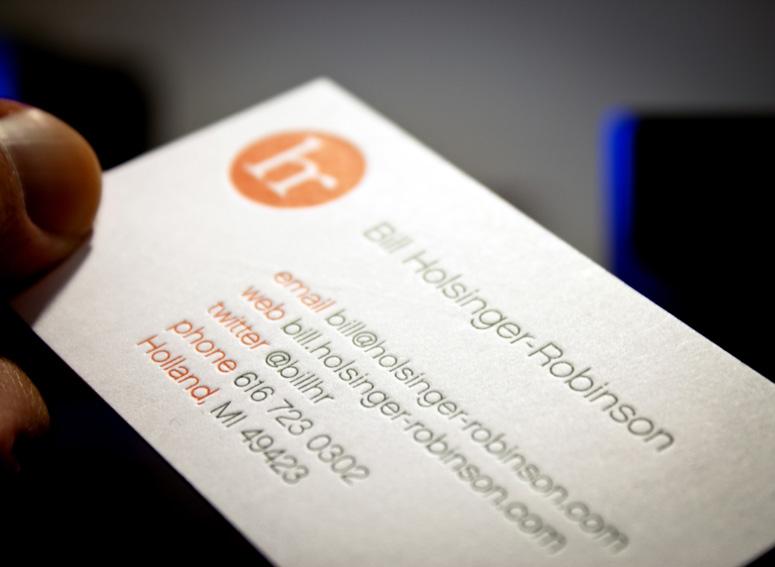 Bill Holsinger-Robinson Business Card