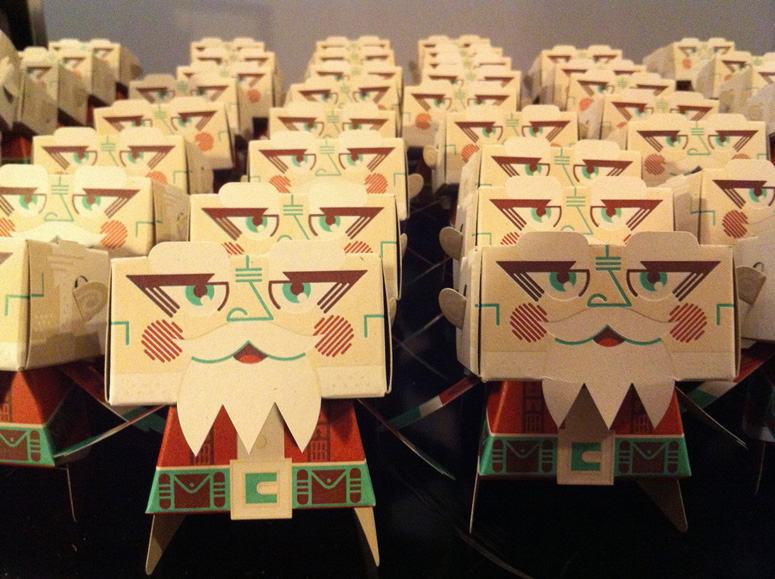 Letterpress Papercraft Santa