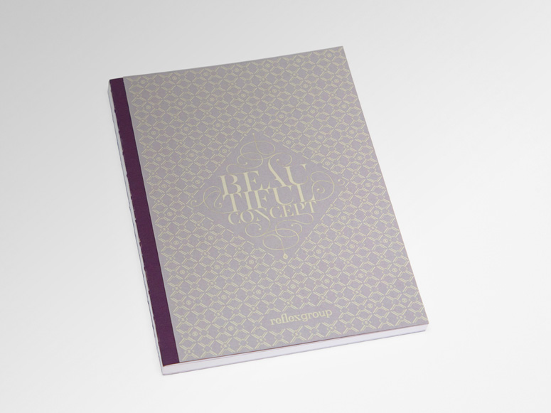 personalized notebook new year card