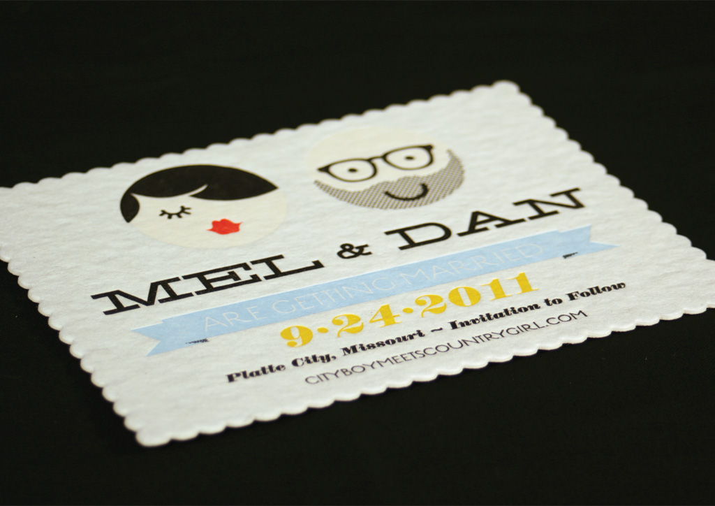 Wedding Save the Date for Dan Padavic & Melissa Coverdale by Vahalla Studios