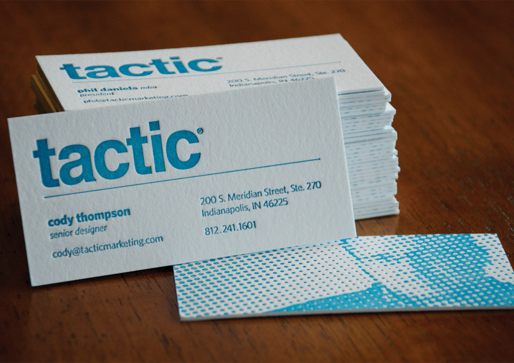Business Card for Self-Promotion by Tactic