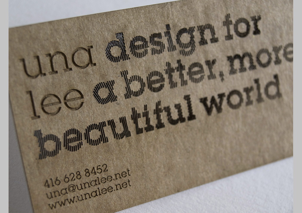 Business Card for Self-Promotion by UnaLee