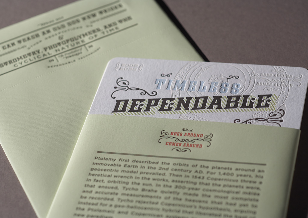 Calendar for Dependable Letterpress by Rubber Design