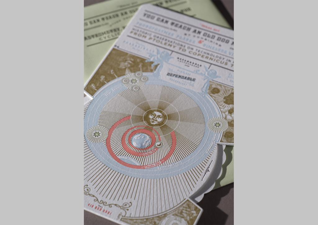 Calendar for Dependable Letterpress by Rubber Design
