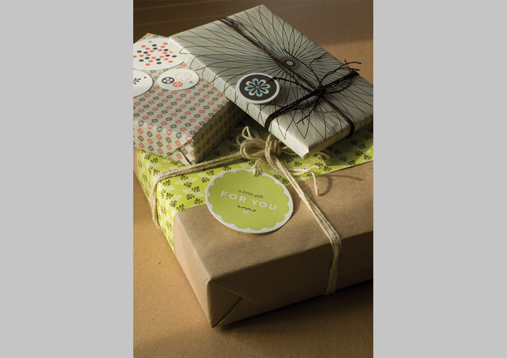 Wrapping Paper Set for Notion Farm by Rubber Design