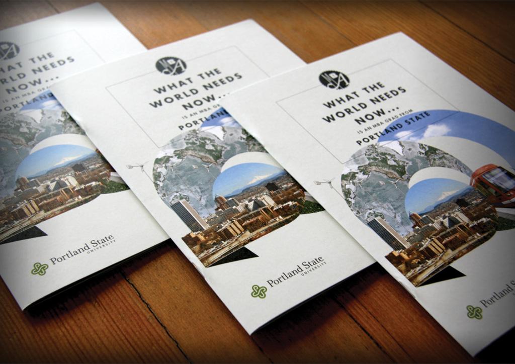 Brochure for Portland State University MBA program by Sockeye