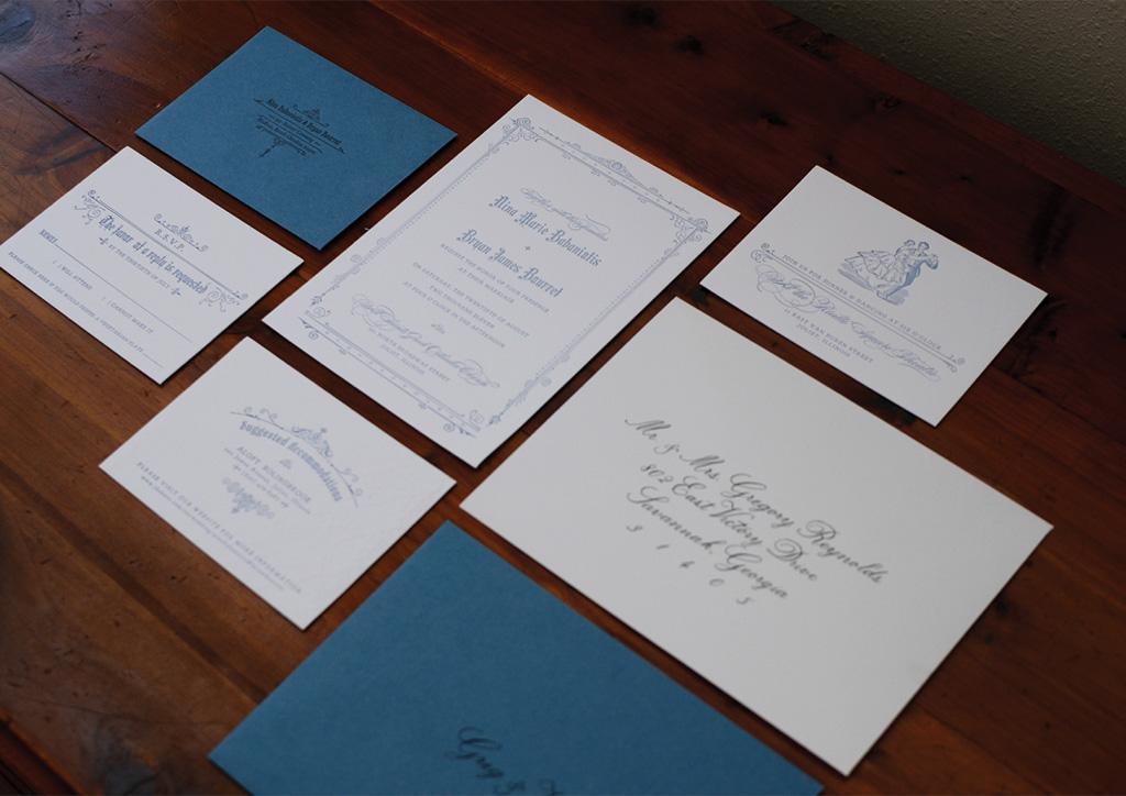 Wedding Invitation for Nina Babaniotis and Bryan Bourret by Ten LinesPica