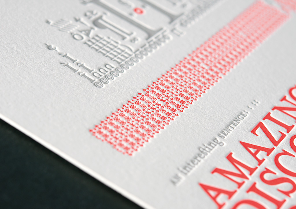 Prints for Self-Promotion by Bellus Letterpress and ak design