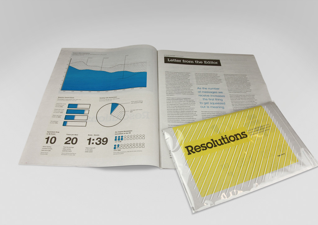 Newspaper for Self-Promotion by Ziba Design