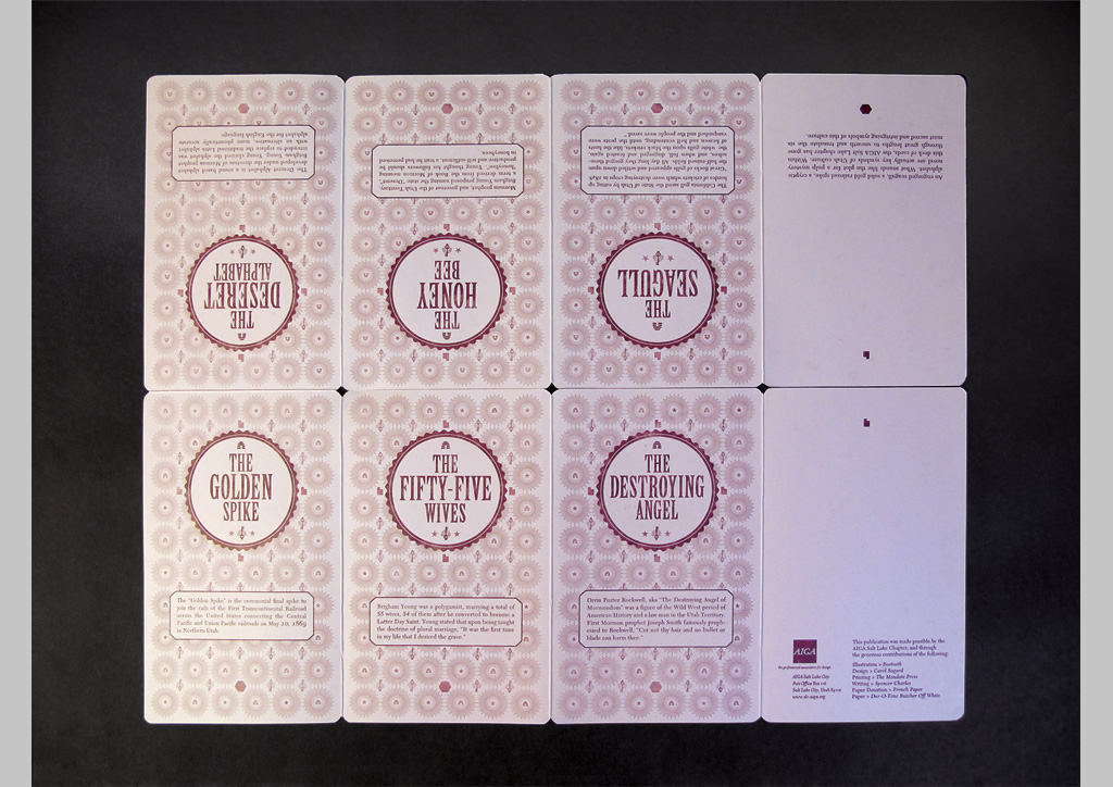 Pamphlet for AIGA SLC by The Mandate Press