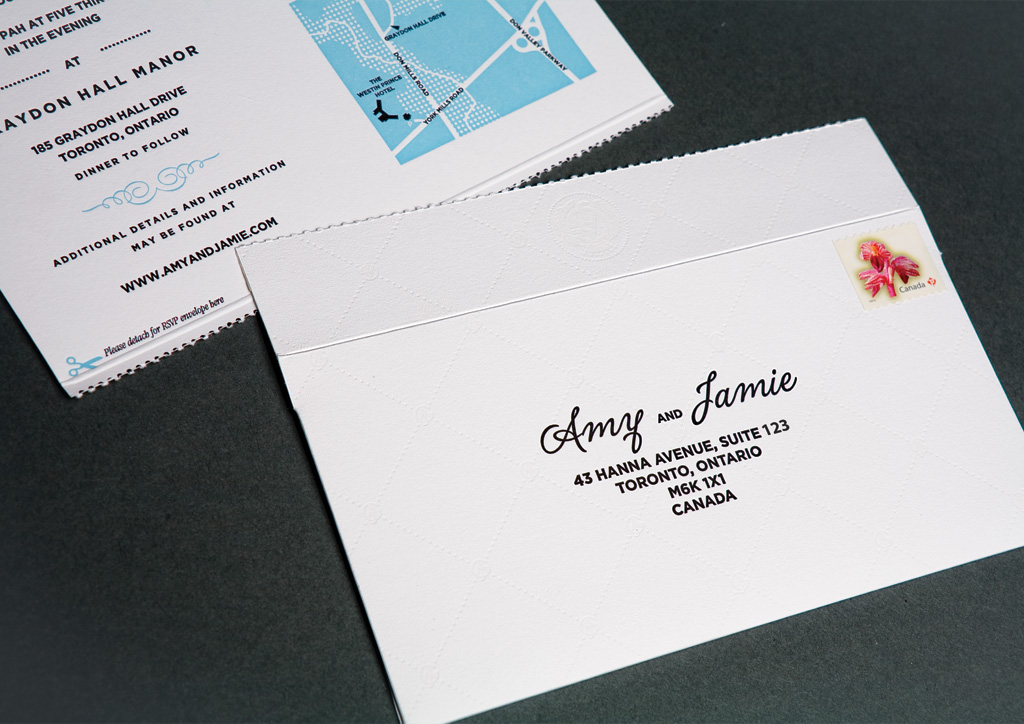 Wedding Invitation for Amy Kuchinsky and Jamie Gewurtz by The Directive Collective