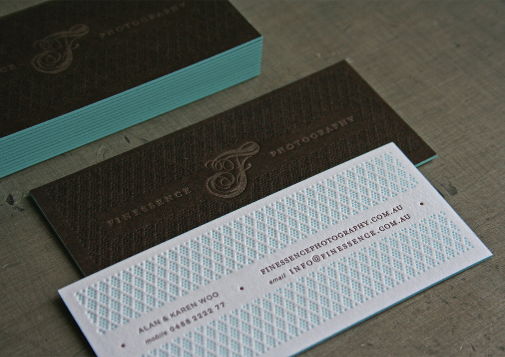 Business Card, Gift Certificate, and Photo Folio for Finessence ...