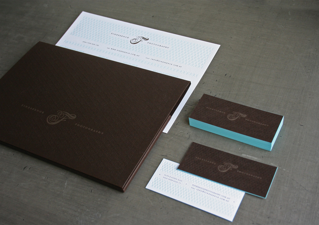 Business Card, Gift Certificate, and Photo Folio for Finessence Photography by Studio OnFire
