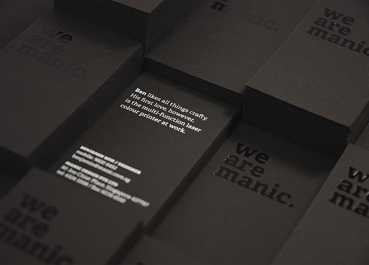 Business Card for/by Manic Design