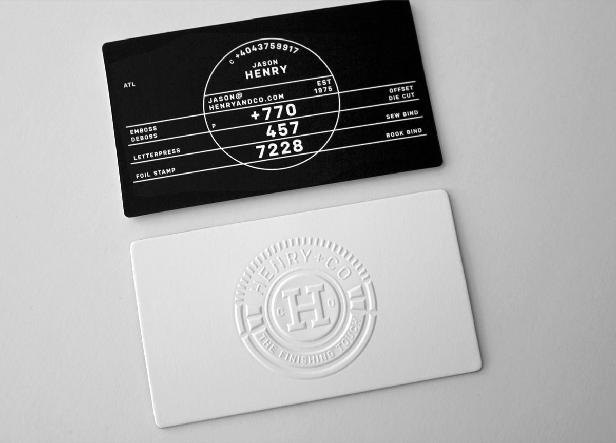 Business Card for Henry and Company by Ferreira Design Company