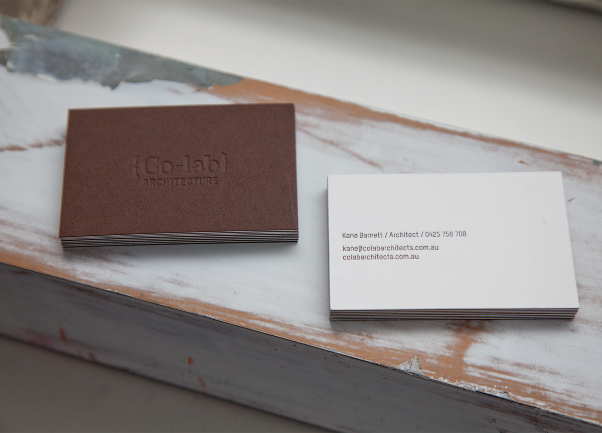 Business Card for Co-lab by Principle Design