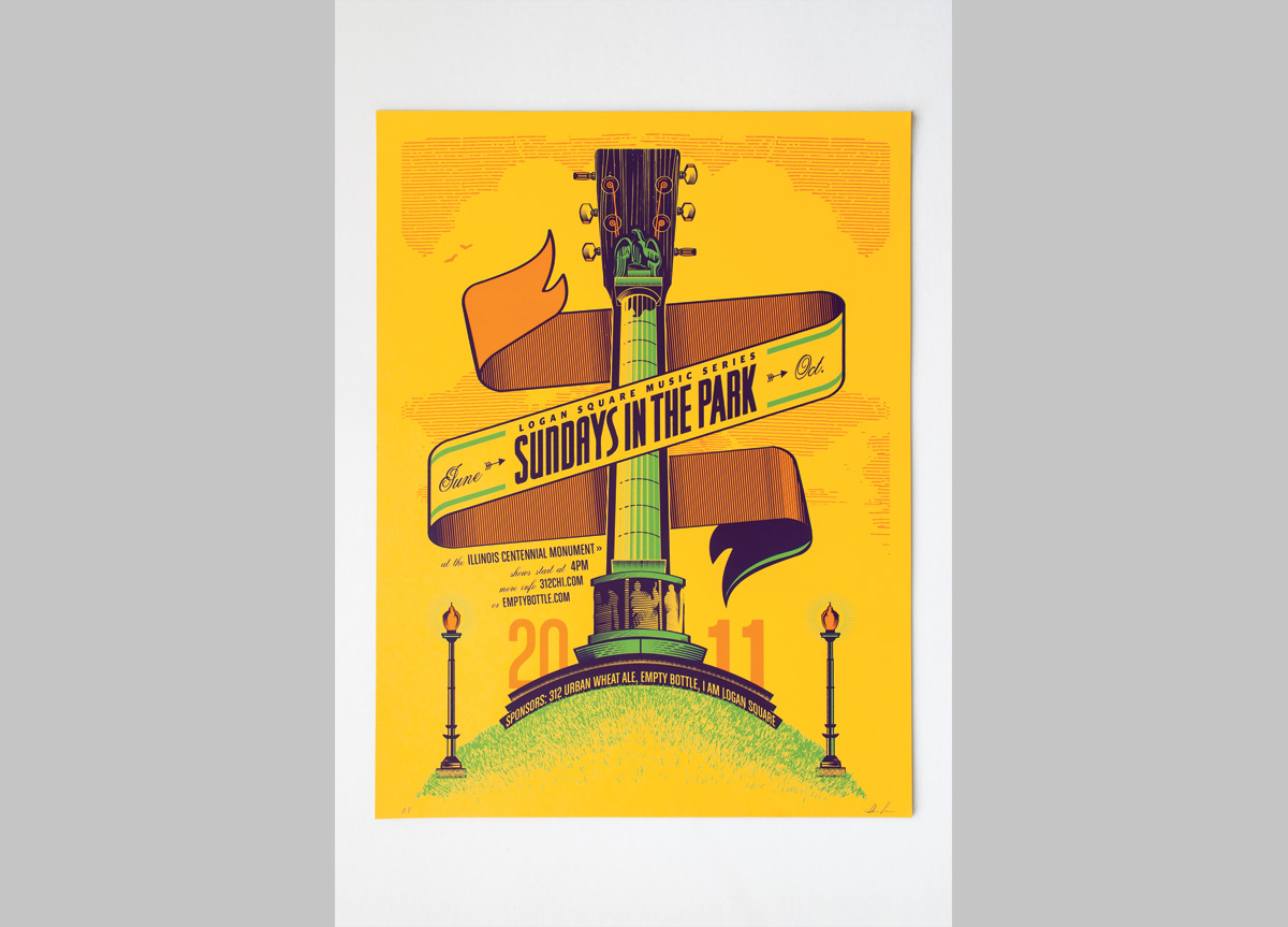 Poster for Goose Island Beer Company by Ian Law