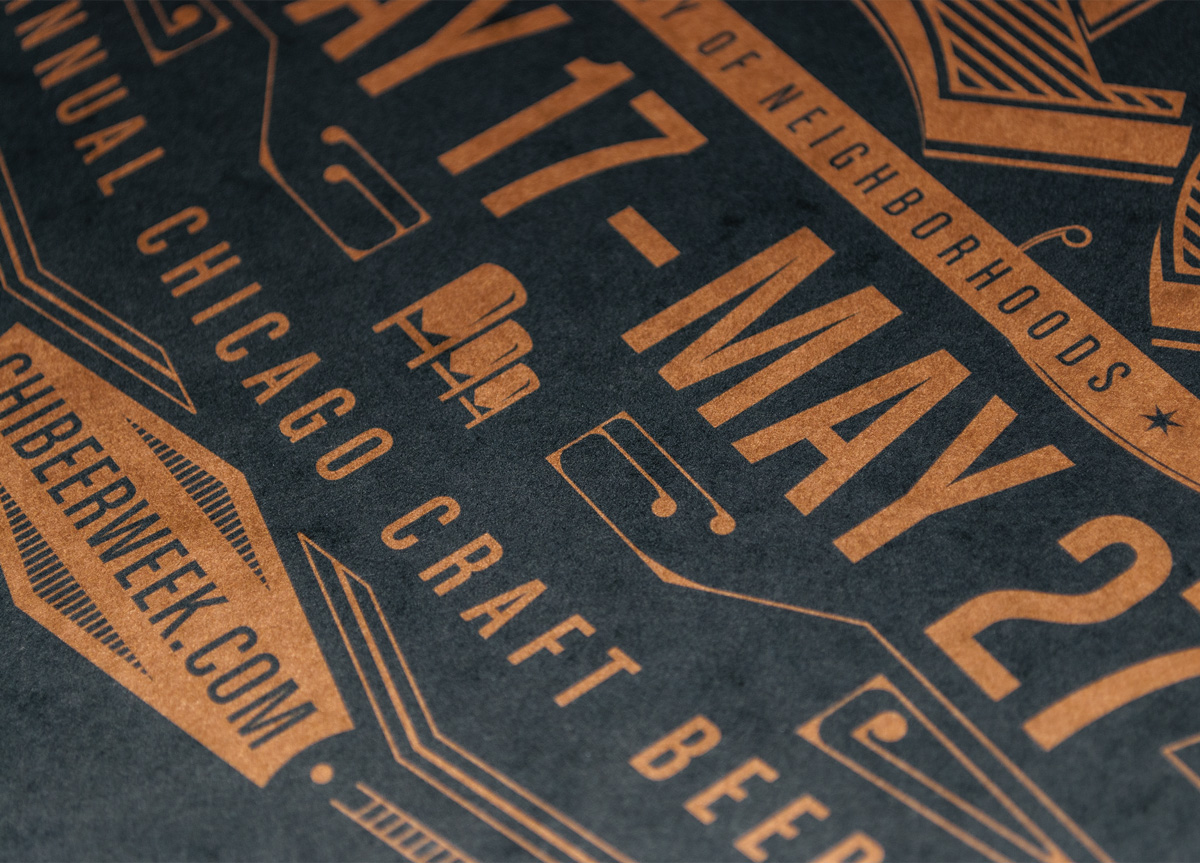 Poster for Illinois Craft Brewers Guild by Ian Law