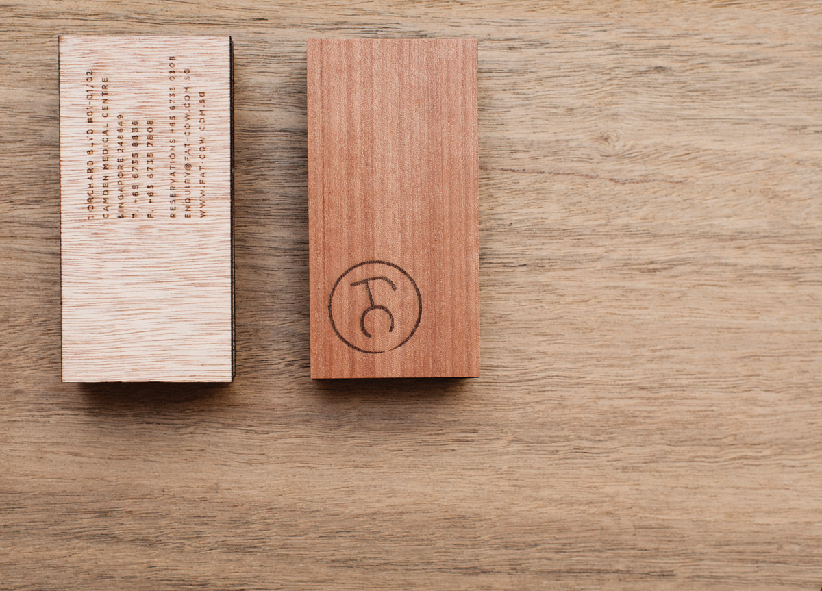 Menu and Stationery for Fat Cow by Foreign Policy Design Group