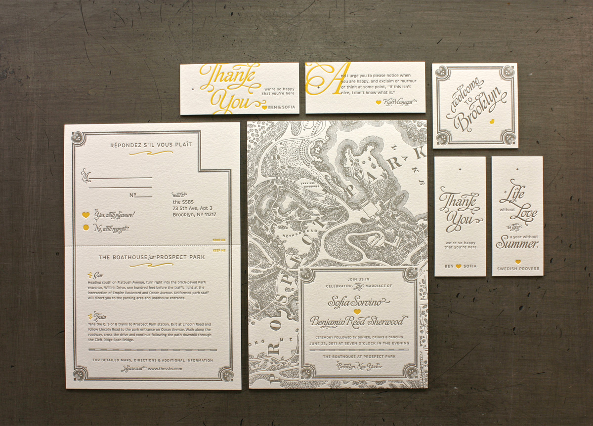 Wedding Materials for Sofia & Ben by The SSBS