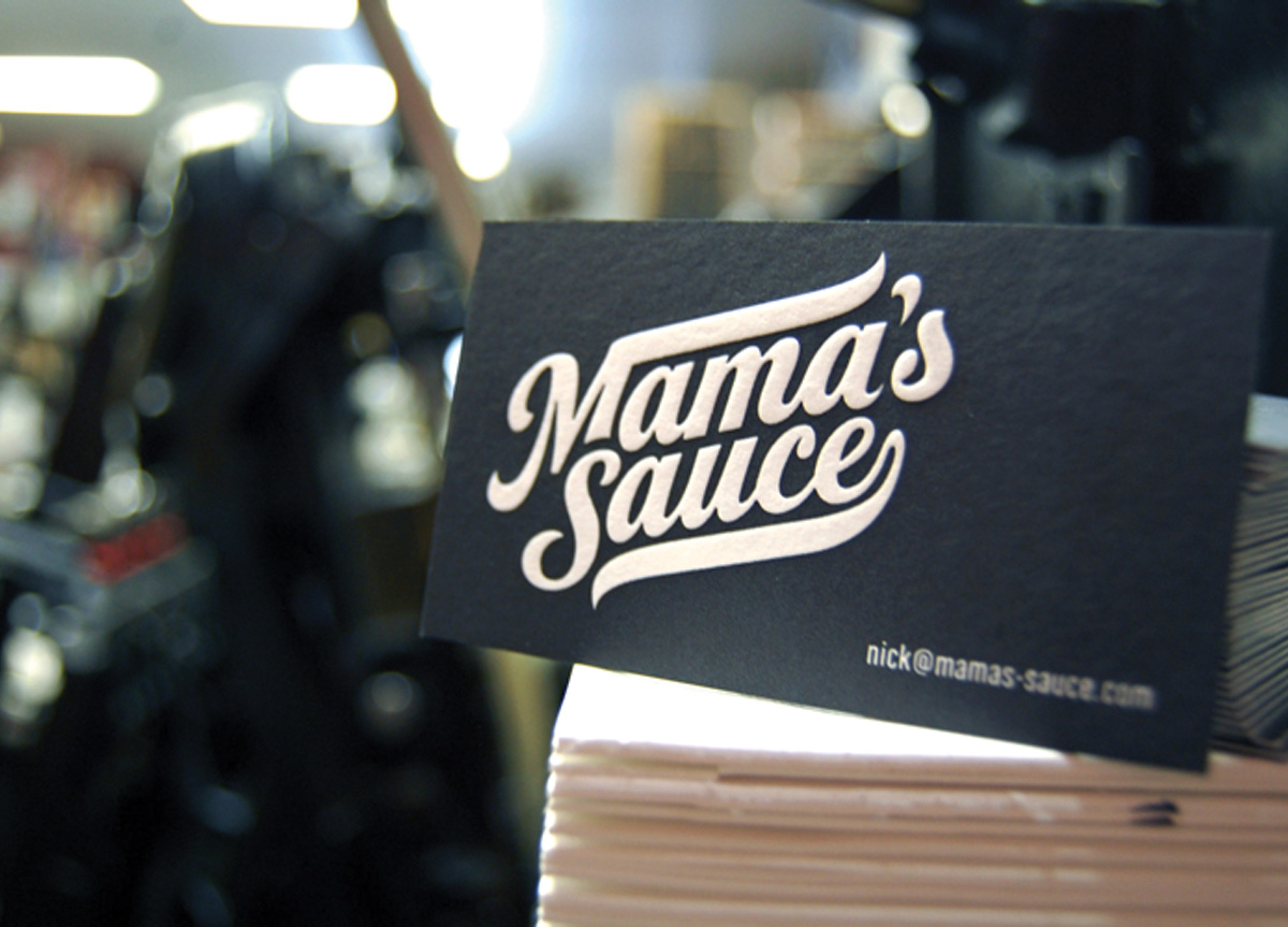 Business Card for/by Mama's Sauce