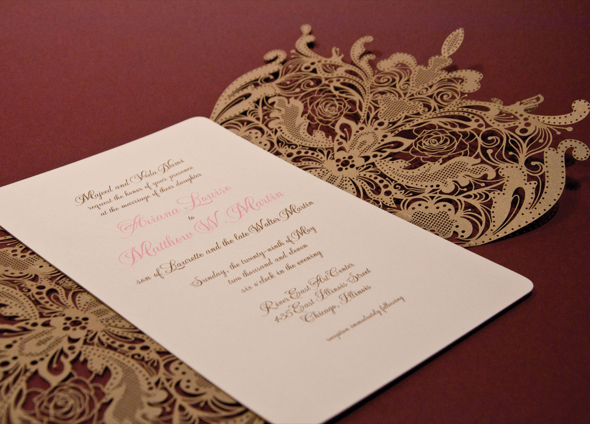 Wedding Invitation for Ariana & Matthew by Two Paperdolls