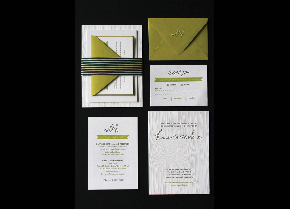 Wedding Invitation for Kris & Mike by MDG, inc.