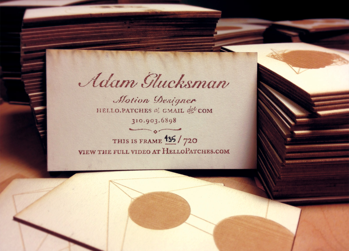 Business Card for/by Adam Glucksman