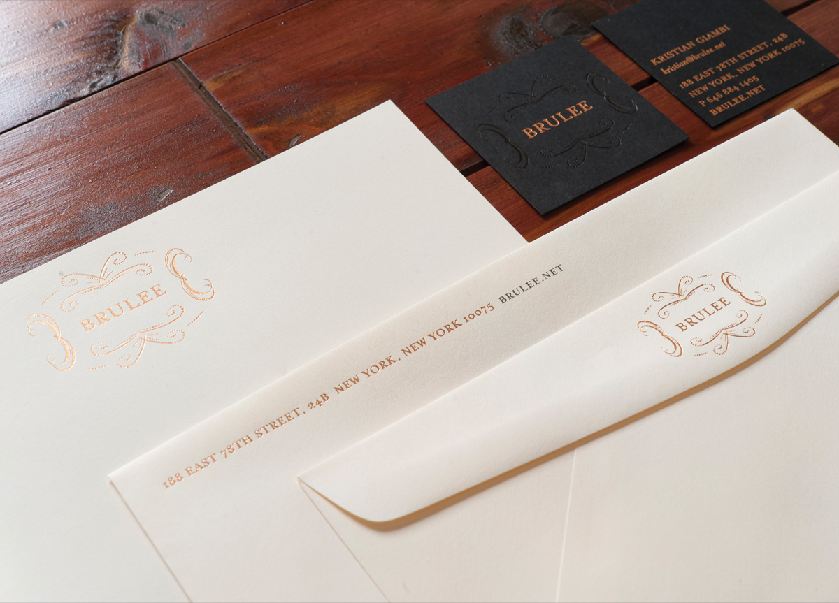 Stationery for Brulee by Deuce Creative