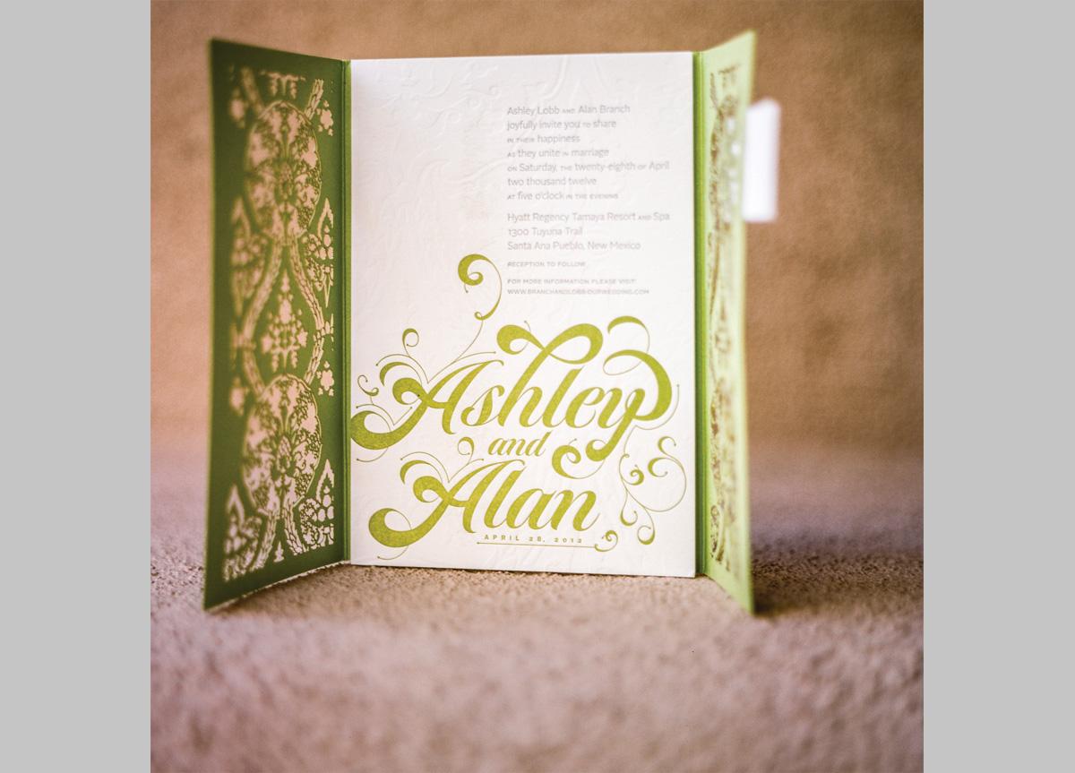 Wedding Invitation for Ashley & Alan by Flourish Creative Studio