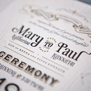 Wedding Invitation for Paul & Mary by Mary Rosamond Kunnath