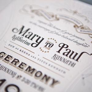 Wedding Invitation for Paul & Mary by Mary Rosamond Kunnath