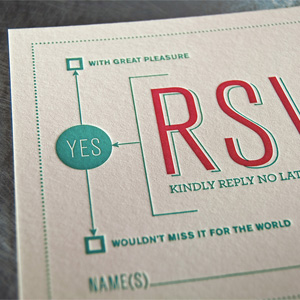 Wedding Invitation for Kristen & Loren by Loren Klein