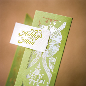 Wedding Invitation for Ashley & Alan by Flourish Creative Studio