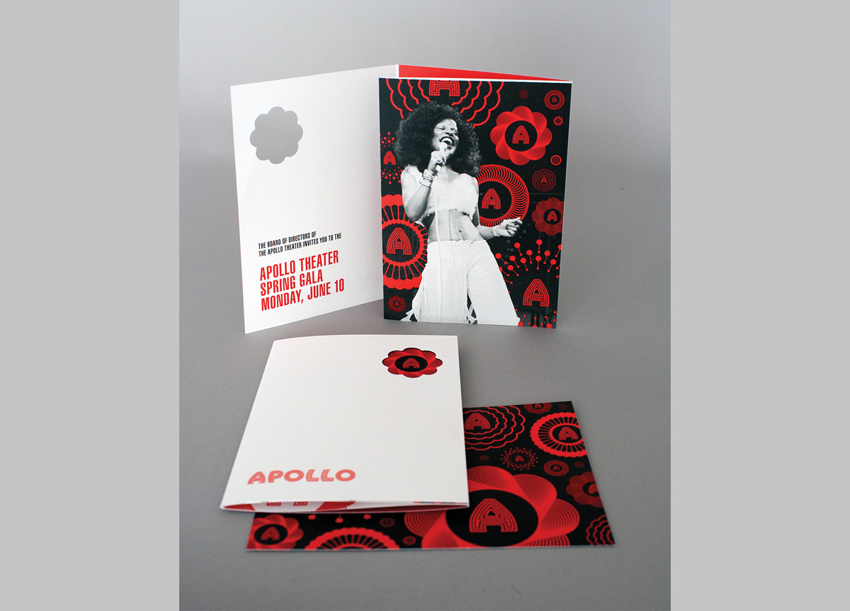 Invitation for Apollo Theater Foundation by Rogers Eckersley Design