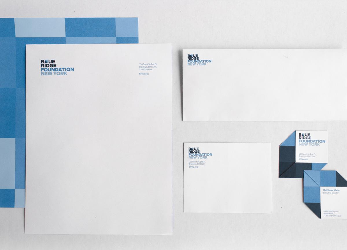 Stationery for Blue Ridge Foundation by Hyperakt
