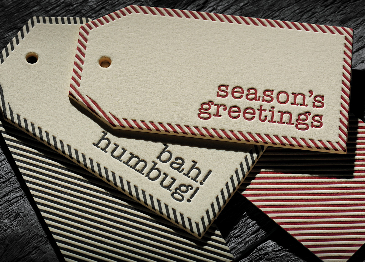 Christmas Gift Tags for Self-promotion by Chapel Press