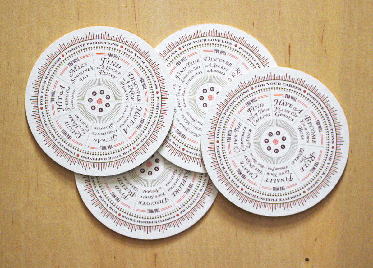 Coasters for Self-promotion by Seamless Creative