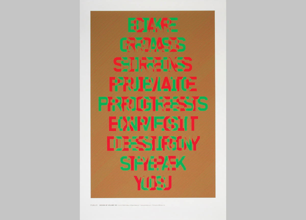 Poster for PUBLIC Bikes by Volume Inc.