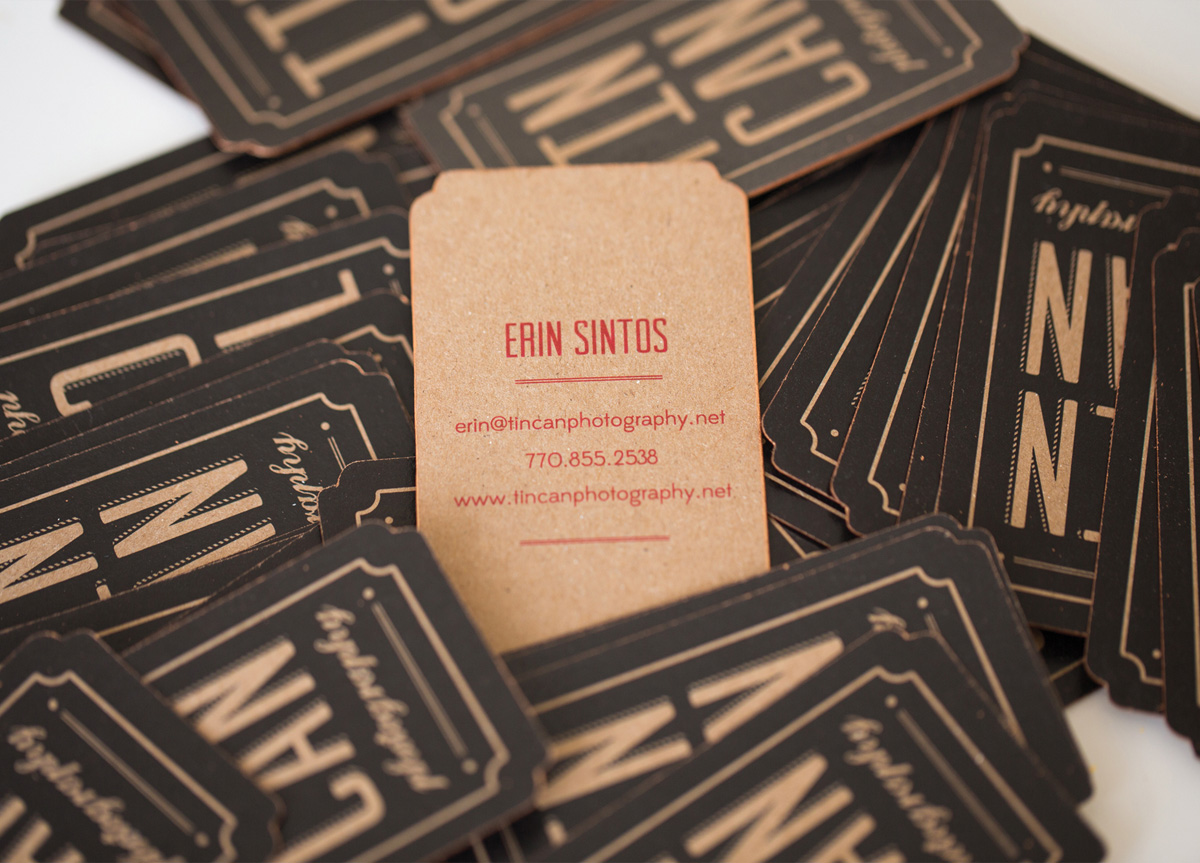 Business Card for Tin Can Photography by Ksenia