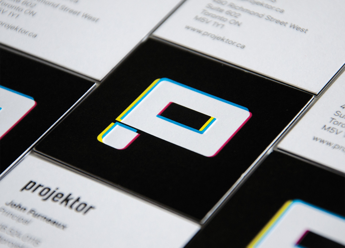 Business Card for/by Projektor Brand Image