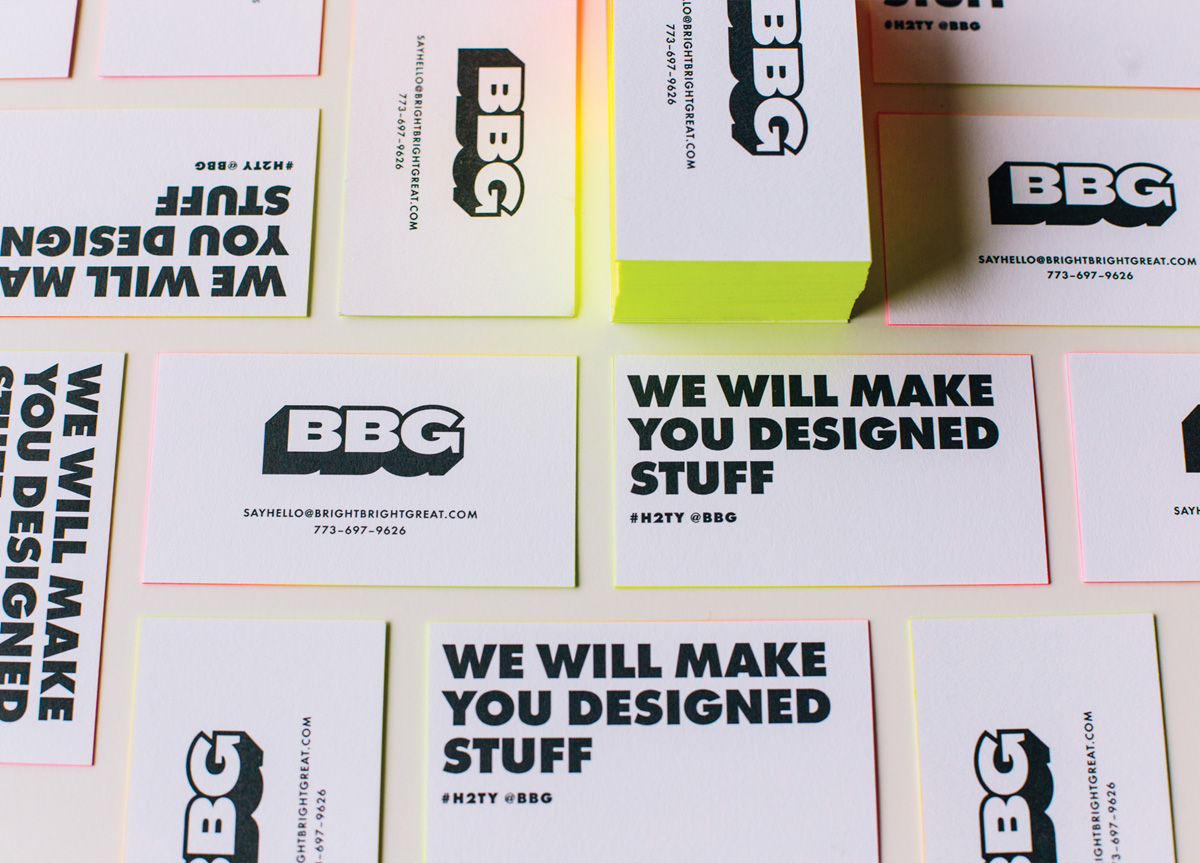Business Card for/by Bright Bright Great