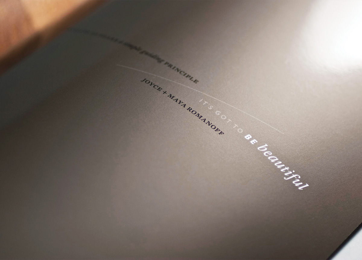 Brochure for Maya Romanoff by Thirst/3st