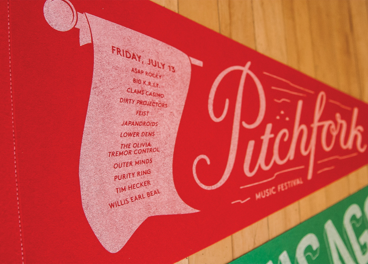 Pennants for Pitchfork Music Festival by Pitchfork