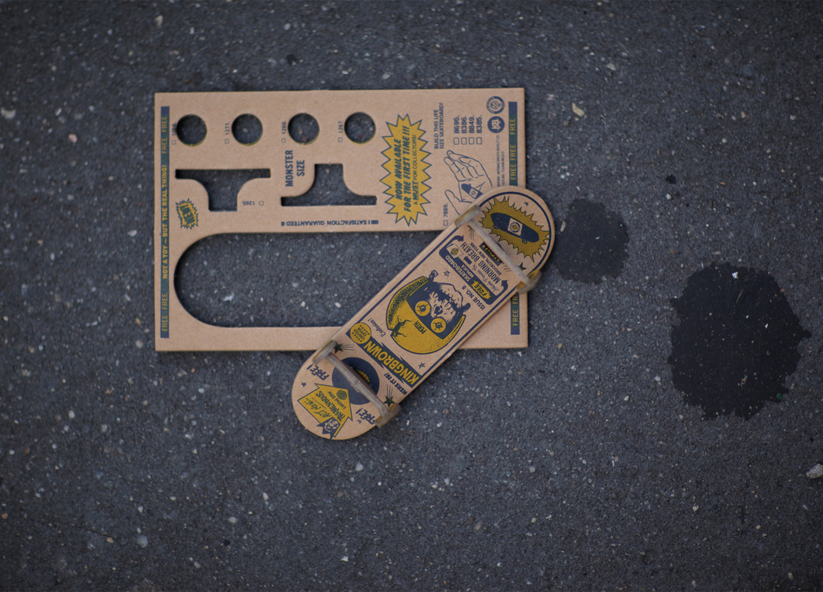 Book/Magazine/Toy Skateboard for/by Kingbrown Magazine and Morning Breath