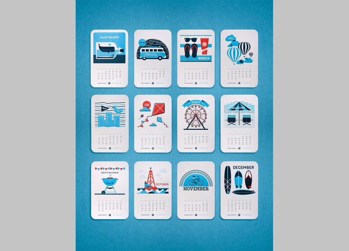 Calendar Design Brief : Desktop calendar for self promotion by traina design