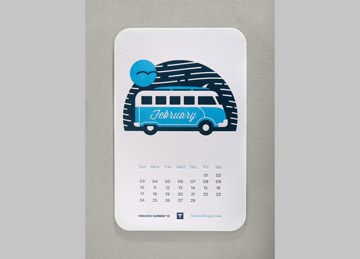 Desktop Calendar for Self-promotion by Traina Design