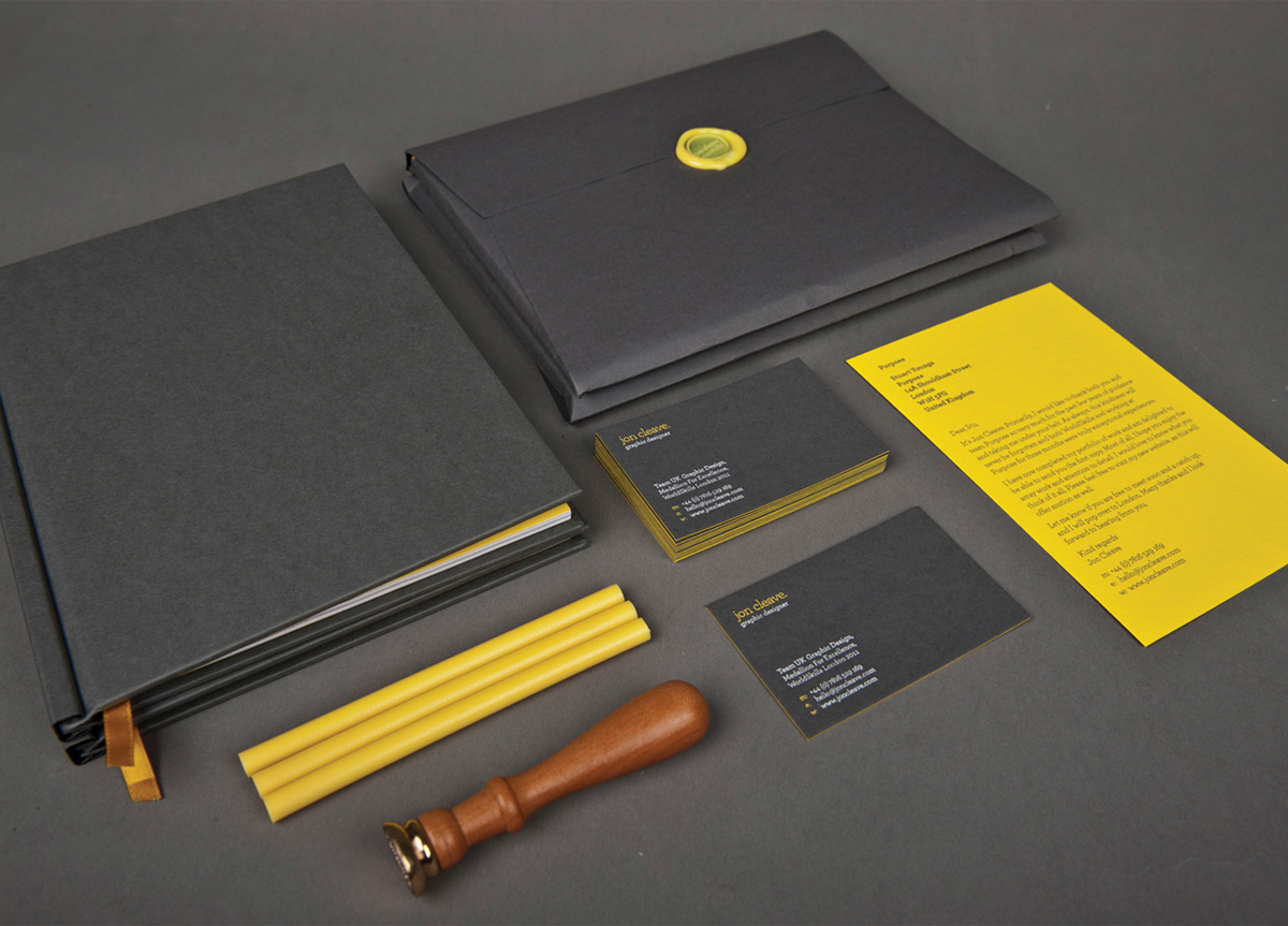 Portfolio Book and Business Cards for Self-promotion by Jon Cleave